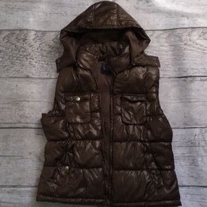 Faded glory vest with removable hood NWOT